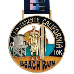 "3""- 4"" Custom Race Run Medal"